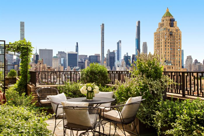 A terrace in New York