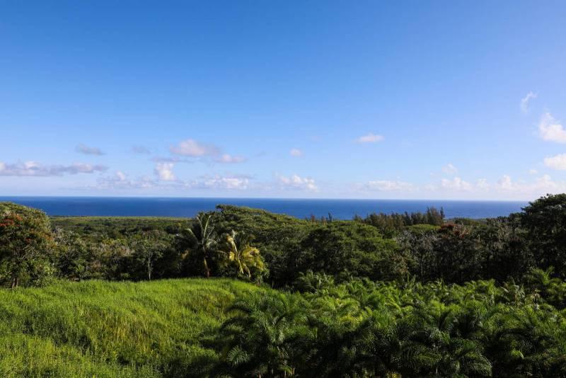 green hills and ocean in hana east maui