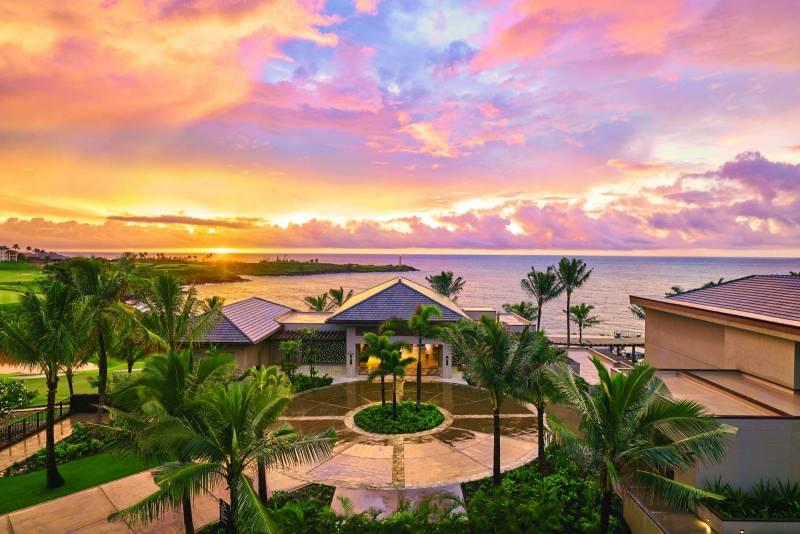Sunset at Timbers Kauai at Hokuala