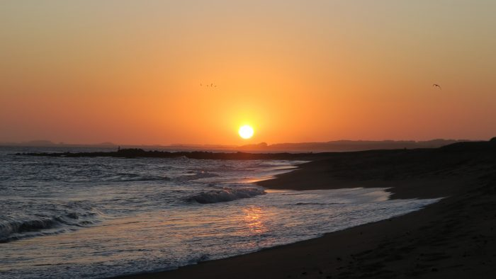 sunset in La Balconada Rocha Uruguay