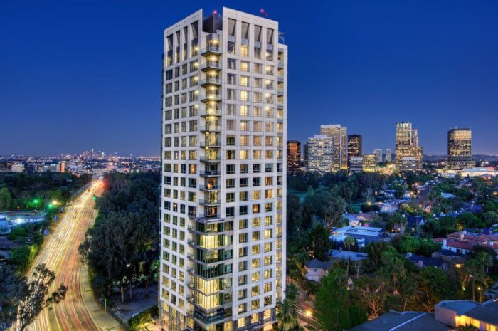 beverly west building exterior los angeles california luxury highrise