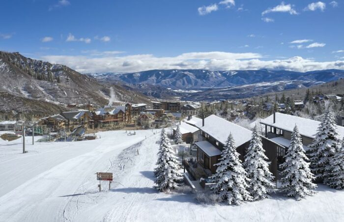 snow and mountain views from havens development luxury homes snowmass colorado