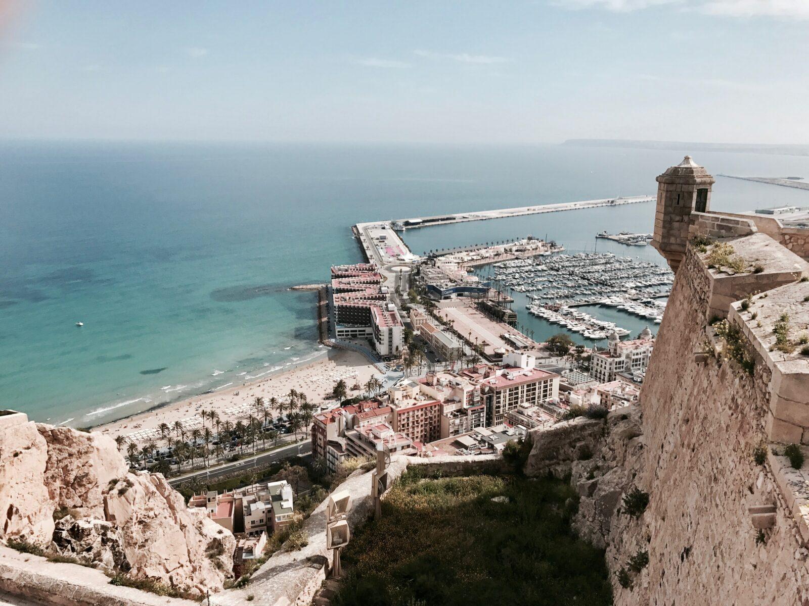 view from denia castle in alicante region spain