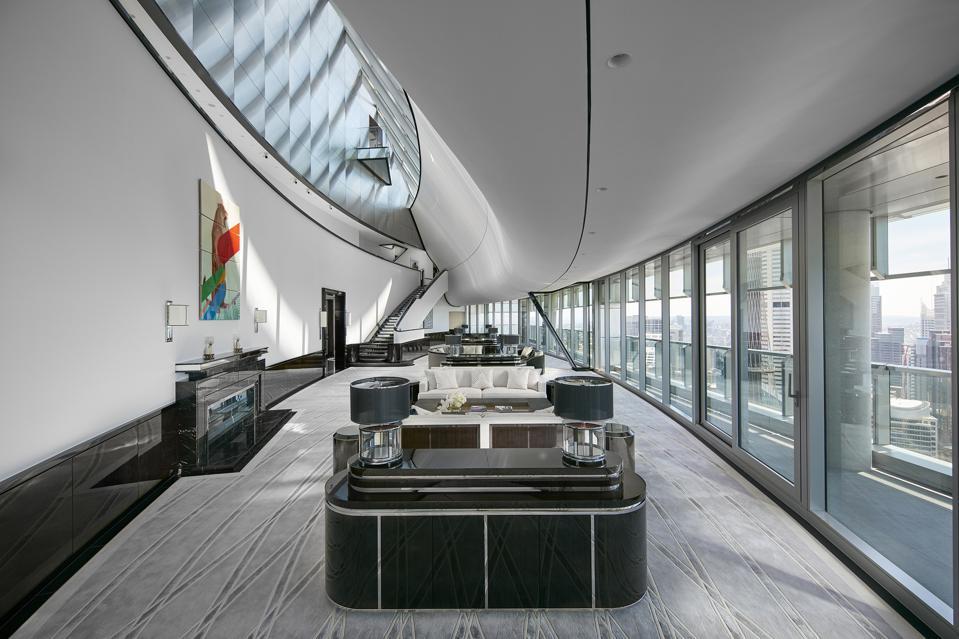 living room inside the boyd penthouse sydney australia