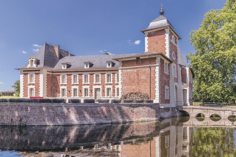 18th century brick chateau near belgium border