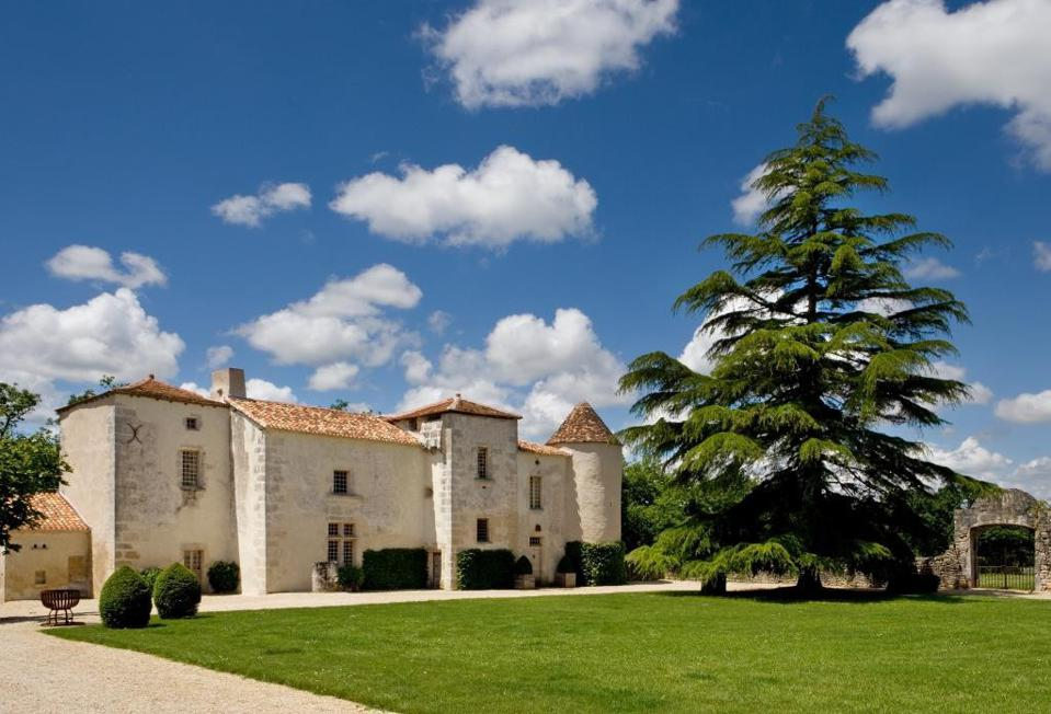 stone chateau outside angouleme in south charente region of france