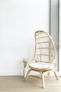 rattan chair in a florida living room