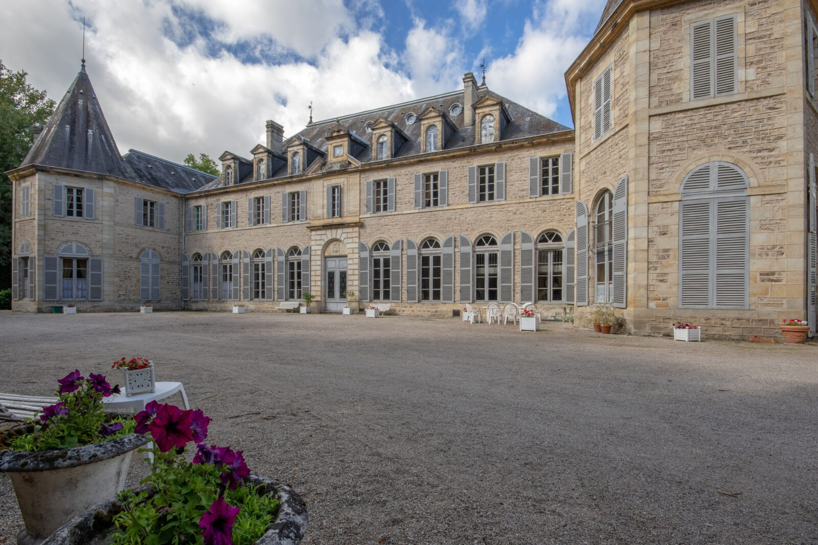 17th Century castle in france with a large history