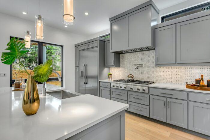 luxury kitchen with modern hardware